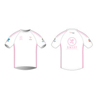 SWIFT White Short Sleeve Running Shirt