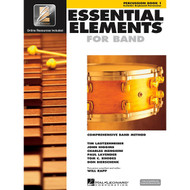 Hal Leonard Essential Elements 2000 Plus Percussion Book 1 with CD-ROM by tim..