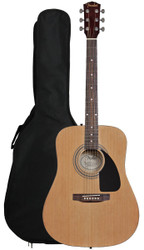 Fender® FA-100 Dreadnought Acoustic Guitar with Bag - Natural