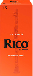 Rico Bb Clarinet Reeds 25-Pack #1.5 (2A1.5)