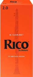 Rico Bb Clarinet Reeds 25-Pack #2.0 (2A2)