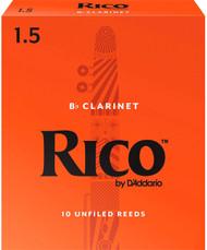 Rico Bb Clarinet Reeds 10-Pack #1.5 (2B1.5)