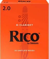 Rico Bb Clarinet Reeds 10-Pack #2.0 (2B2)
