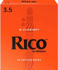 Rico Bb Clarinet Reeds 10-Pack #3.5 (2B3.5)