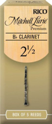 Mitchell Lurie Premium Bb Clarinet Reeds 2.5 5-pack