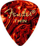 Fender 351 Classic Thin Celluloid Picks, 12 Pack, Shell (351-700)