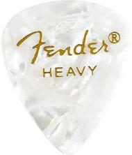 Fender® 351 Shape Premium 12-Pack White Moto Heavy