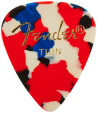 Fender 351 Classic Celluloid Guitar Picks 144-Pack (1 Gross) - Confetti - Thi