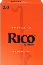 Rico Bass Clarinet Reeds 10-Pack #2.0 (4B2)