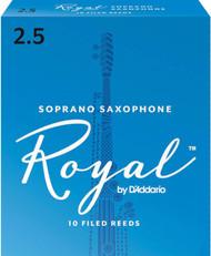 Rico Royal Reeds Soprano Sax 10-Pack 2.5 (5R2.5)