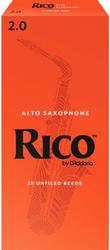 Rico 25-Pack Alto Sax Reeds #2.0 (6A2)