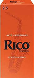 Rico Alto Sax Reeds, Strength 2.5, 25-pack