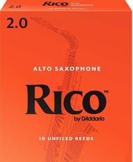 Rico 10-Pack Alto Sax Reeds #2.0 (6B2)