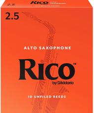 Rico 10-Pack Alto Sax Reeds #2.5 (6B2.5)