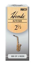 Hemke Alto Sax Reeds, Strength 2.5, 5-pack