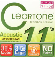 Set Cleartone Acoustic 80/20 Bronze 11-52 Extra Light 7611