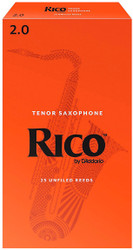 Rico Tenor Sax Reeds 25-Pack 2.0 (7A2)