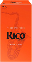 Rico Tenor Sax Reeds 25-Pack 2.5 (7A2.5)