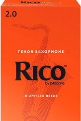 Rico Tenor Sax Reeds 10-Pack 2.0 (7B2)