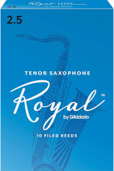 Rico Royal Reeds Tenor Sax 10-Pack 2.5 (7R2.5)