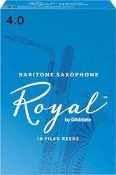 Rico Royal Reeds Baritone Sax 10-Pack 4.0 (8R4)