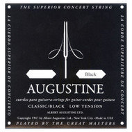 Augustine AUGBLK-6E Coated 80/20 Bronze Classical Guitar Strings, Ligh