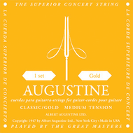 Set Augustine Classic Gold Regular Trebles/Low Tension Basses
