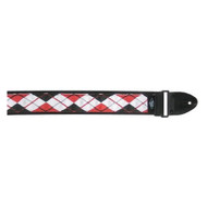 LM Products AG2R 2-Inch Cotton Argyle Guitar Strap - Red