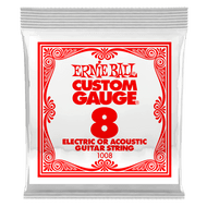 Single Ernie Ball Plain Steel Electric or Acoustic Guitar .008 (B1008) Package Front