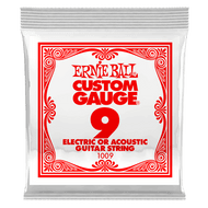 Single Ernie Ball Plain Steel Electric or Acoustic Guitar .009 (B1009) Packaging Front