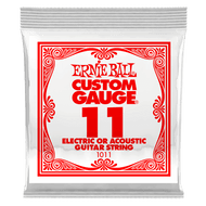 Single Ernie Ball Plain Steel Electric or Acoustic Guitar .011 (B1011) Packaging Front