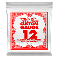 Single Ernie Ball Plain Steel Electric or Acoustic Guitar .012 (B1012) Packaging Front
