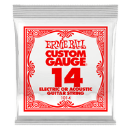 Single Ernie Ball Plain Steel Electric or Acoustic Guitar .014 (B1014) Packaging Front
