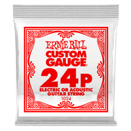 Single Ernie Ball Plain Steel Electric or Acoustic Guitar .024 (B1024) Packaging Front