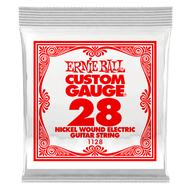Single Ernie Ball Nickel Wound Electric Guitar .028 (B1128) Packaging Front
