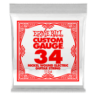 Single Ernie Ball Nickel Wound Electric Guitar .034 (B1134) Packaging Front