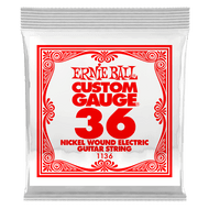 Single Ernie Ball Nickel Wound Electric Guitar .036 (B1136) Packaging Front
