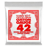 Single Ernie Ball Nickel Wound Electric Guitar .042 (B1142) Packaging Front