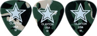 Clayton Acetal Camouflage Guitar Picks Green Medium