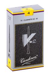 Vandoren CR194 Bb Clarinet V.12 Reeds Strength 4; Box of 10