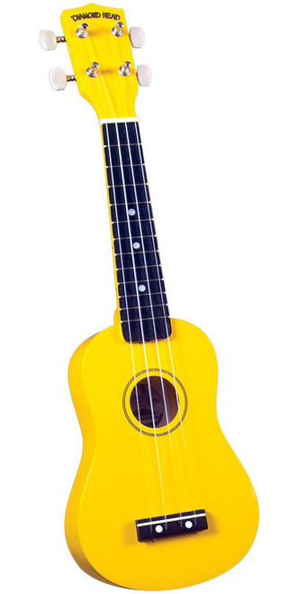 Diamond Head DU-104 Rainbow Soprano Ukulele Yellow