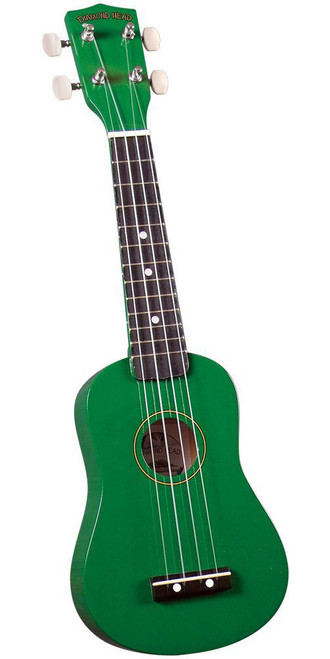Diamond Head DU-105 Rainbow Soprano Ukulele Green