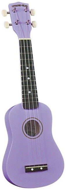 Diamond Head DU-118 Rainbow Soprano Ukulele - Violet FRONT