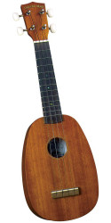 Diamond Head DU-200P Deluxe Natural Mahogany Pineapple Soprano Ukulel