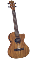 Diamond Head DU-350TCE Flamed Acacia Electric/Acoustic Cutaway Tenor Ukulele Outfit FRONT