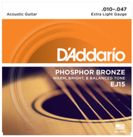 Set D'Addario Phosphor Bronze 10-47 Extra Light EJ15