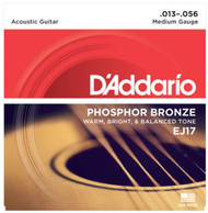 D'Addario Phosphor Bronze 13-56 Medium (EJ17)