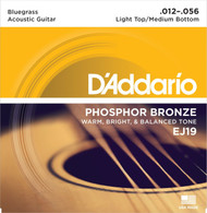Set D'Addario Phosphor Bronze 12-56 Light Top/Medium Bluegrass (EJ19)