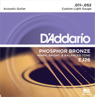 D'Addario Phosphor Bronze 11-52 Custom Light (EJ26)