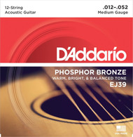 D'Addario Phosphor Bronze 12-String 12-52 Medium (EJ39)